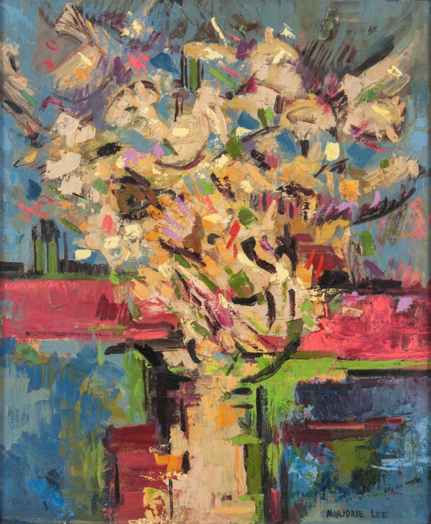 Image of an abstracted floral still life