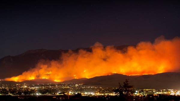 Fine Art Insurance 101 shows the risk of wildfires